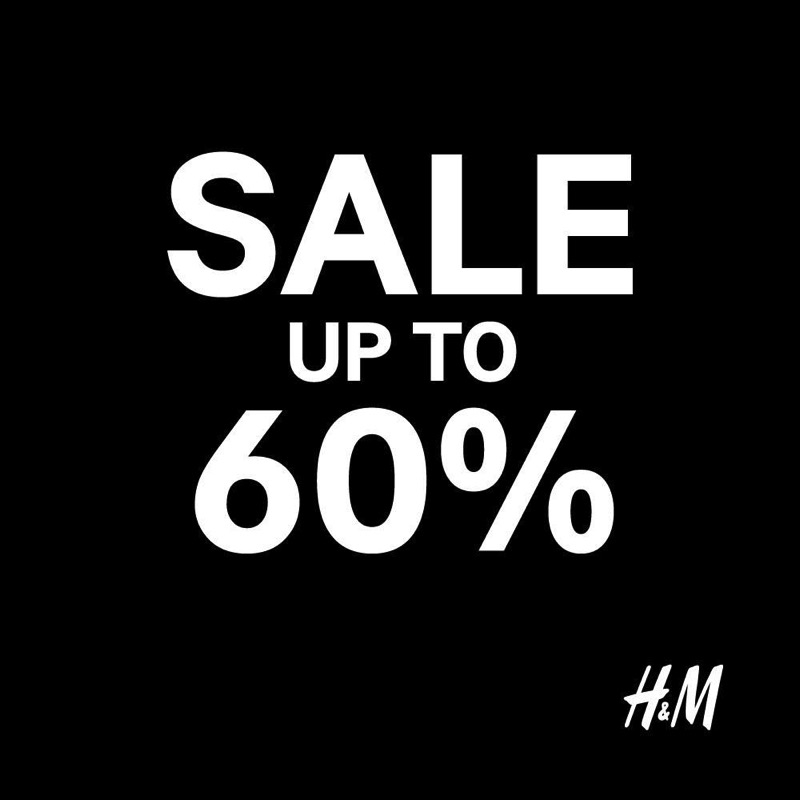 Promotion H&M Mid Season Sale up to 60% Off [Oct.2017]