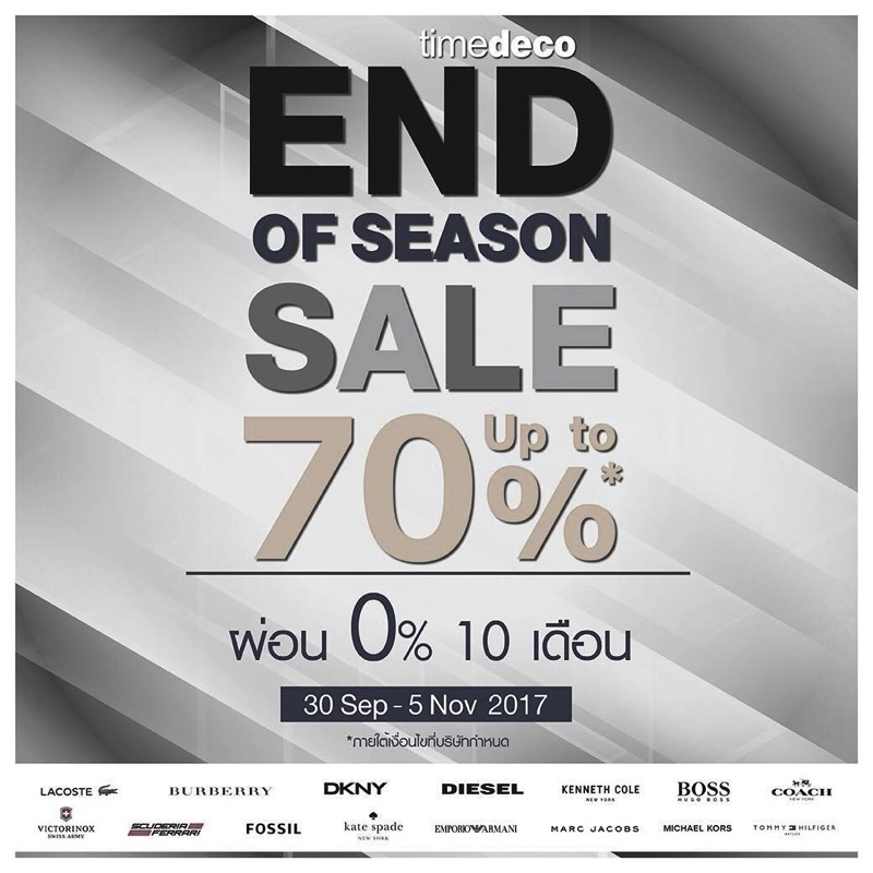 Promotion Timedeco End of Season Sale 2017 up to 70 Off Oct 2017 FULL