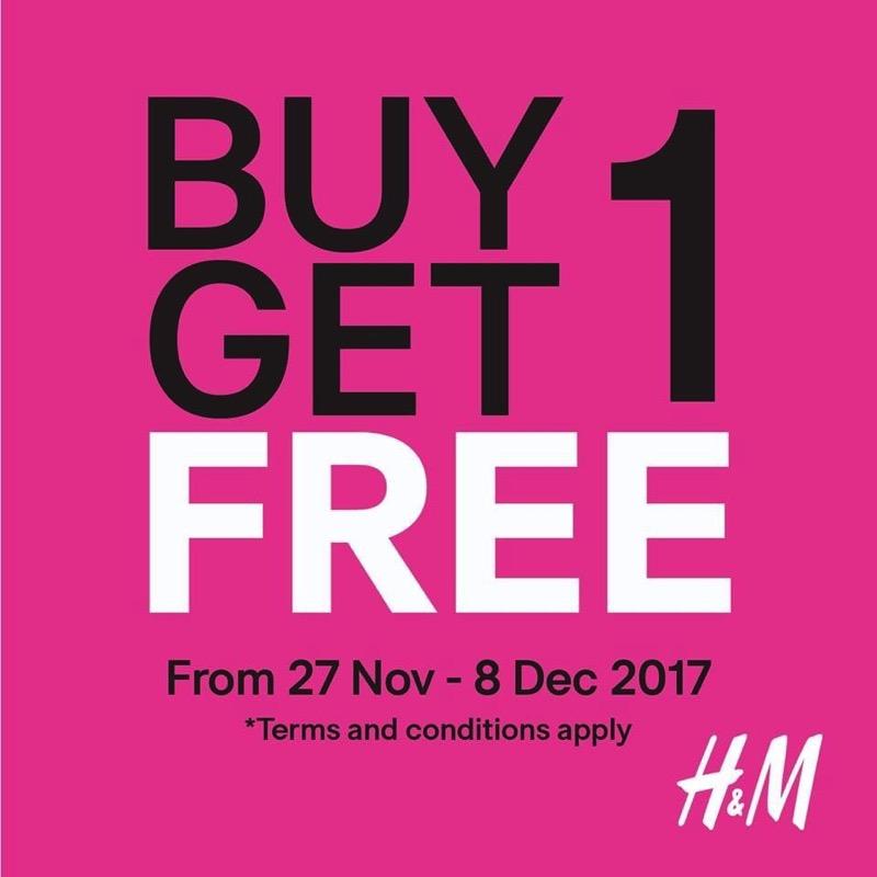 Promotion H M Buy 1 Get 1 Free  Nov Dec 2017 FULL