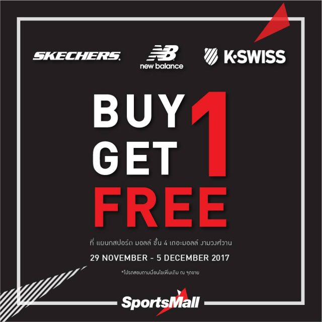 Promotion Skechers New Balance K Swiss Buy 1 Get 1 Free  Sports Mall FULL