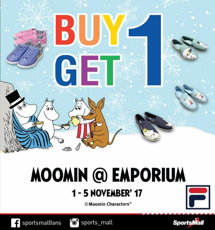 Sports Mall Fila Moomin Collection Buy 1 Get 1 Free