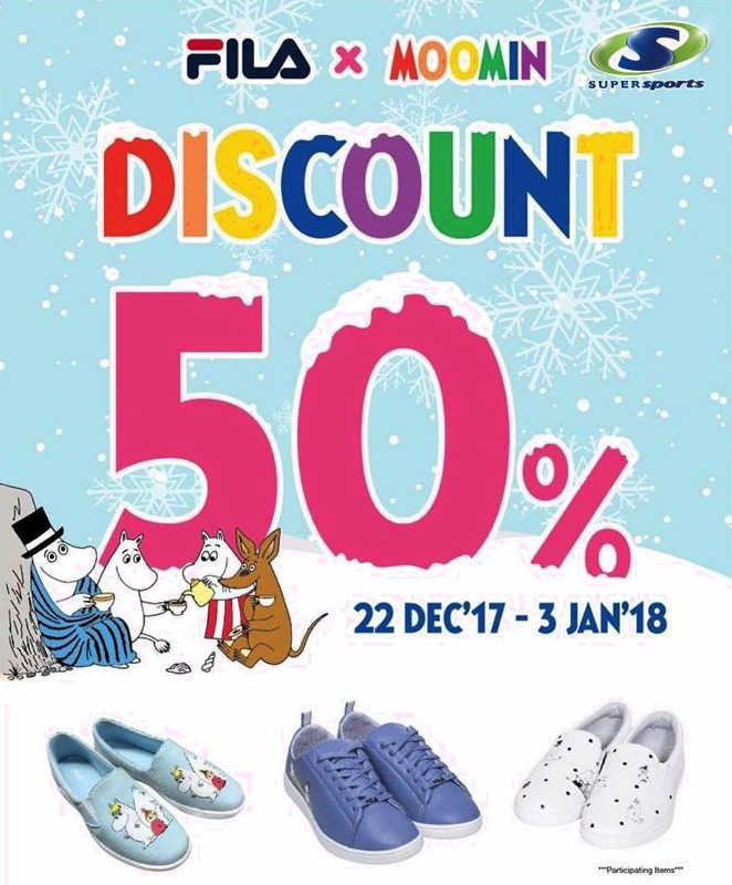 Promotion FILAxMOOMIN Discount 50 Off  SuperSports P1