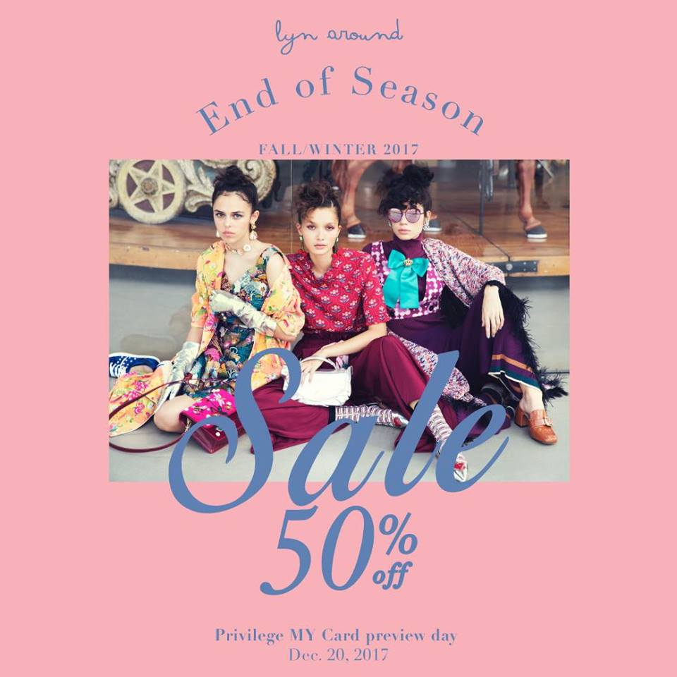 Promotion Lyn Around End of Season Sale up to 50 off Dec 2017 FULL