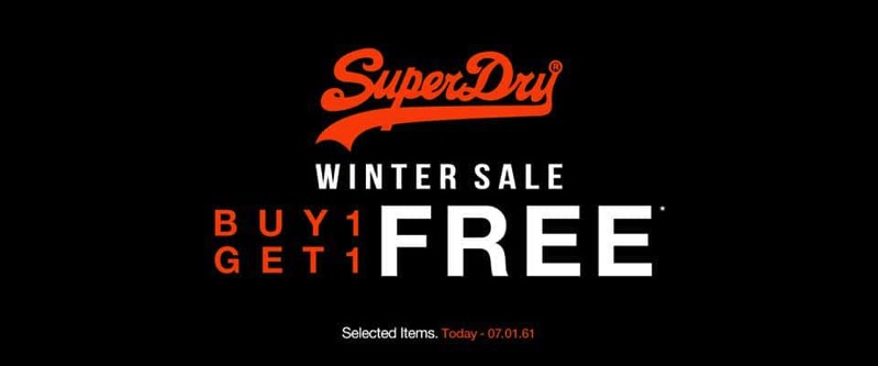 Promotion Superdry Winter Sale 2017 Buy 1 Get 1 Free P10