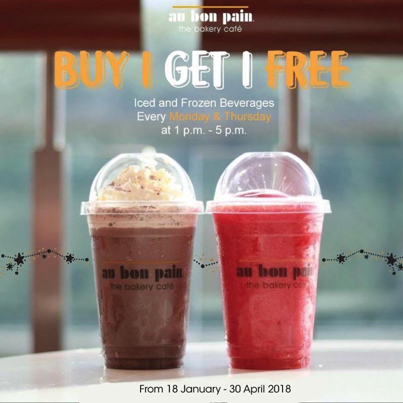 Promotion Au Bon Pain Cold Drink Buy 1 Get 1 Free  Jan Apr 2018 FULL
