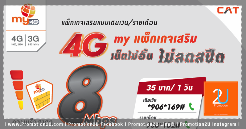 Promotion mybycat package 4g unlimit 8mbps