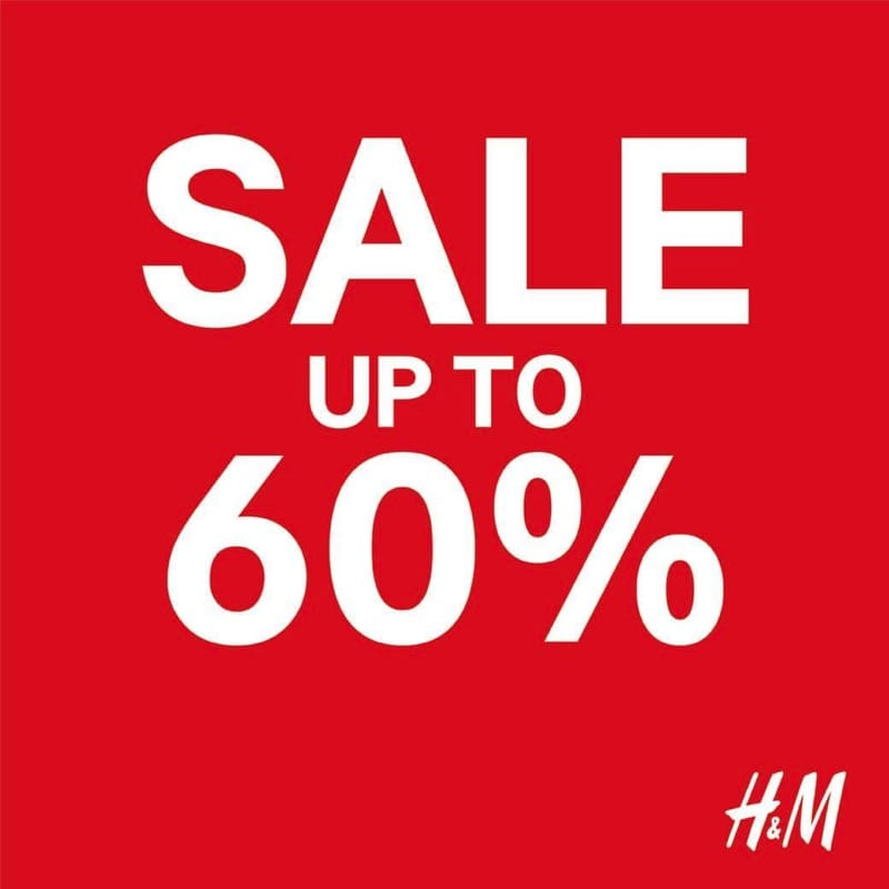 Promotion H M Mid Season Sale up to 60โ๊ศศ Off Mar 2018