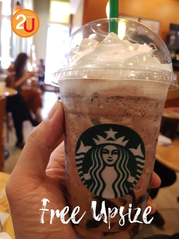 Promotion My Starbucks Rewards Free Upsize  20Mar 2018 FULL