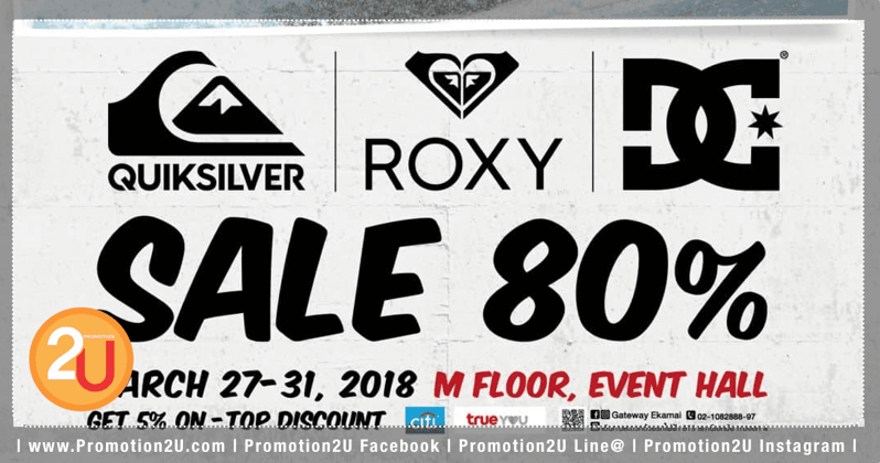 Promotion Quiksilver Roxy DC SALE up to 80 Off Mar 2018
