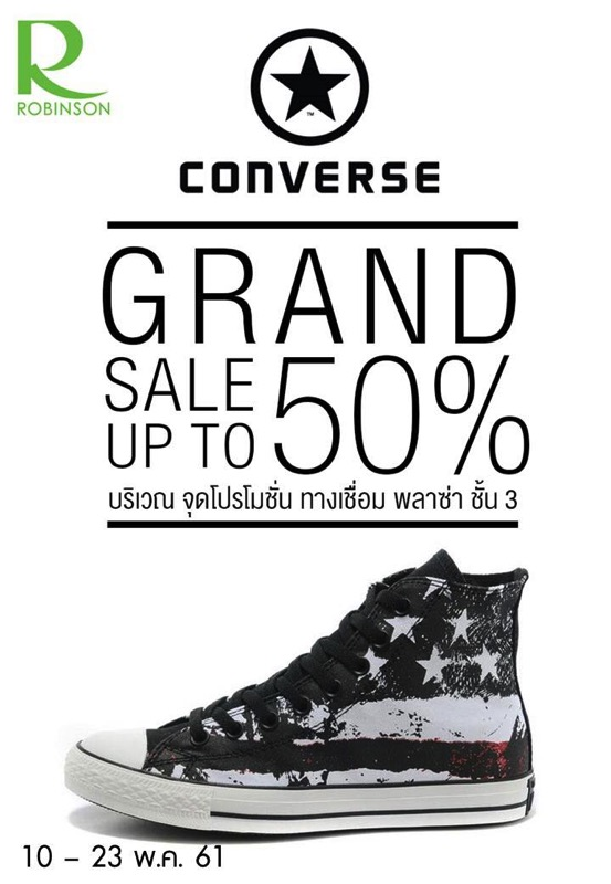 Promotion converse grand sale up to 50 off at central rama 9 P02