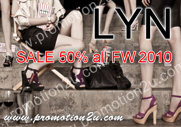 โปรโมชั่น LYN Sale 50% all FW 2010 กระเป๋า รองเท้าแบรนด์เนมจาก LYN ลดสูงสุด 50%