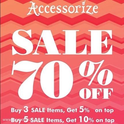 Promotion ACCESSORIZE Sale 70% On Top 5-10% off (Jan 2013)