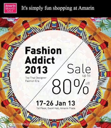 โปรโมชั่น Fashion Addict 2013 : Top Thai Designer Brands ลดสูงสุด 80% ( ม.ค.56 )