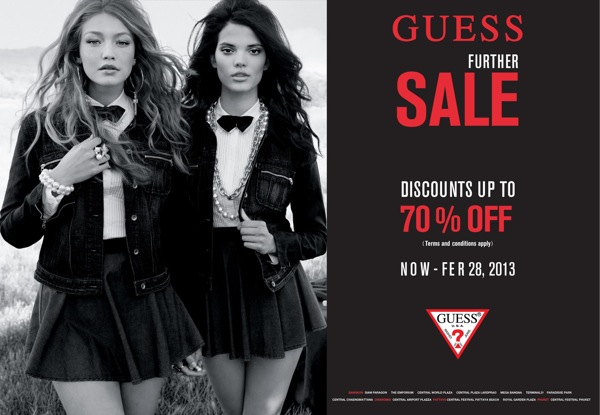d8f399eee5 Promotion GUESS Further Sale up to 70% off Feb.2013