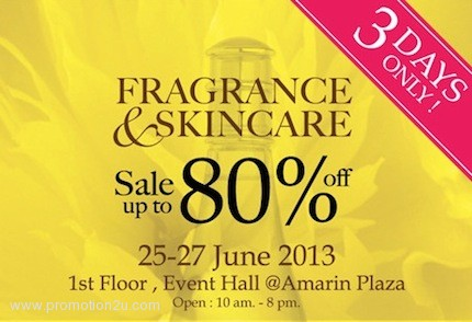Promotion Fragrance & Skincare Clearance Sale Up to 80% @ Amarin Plaza [2013]