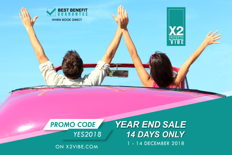Promotion X2 X2Vibe AwayResort Year End Sale up to 40 Of