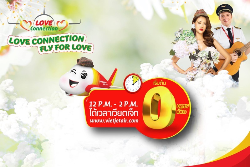 Promotion VietJetAir 2019 Love Connection Fly for Love Fly 0 Baht FULL