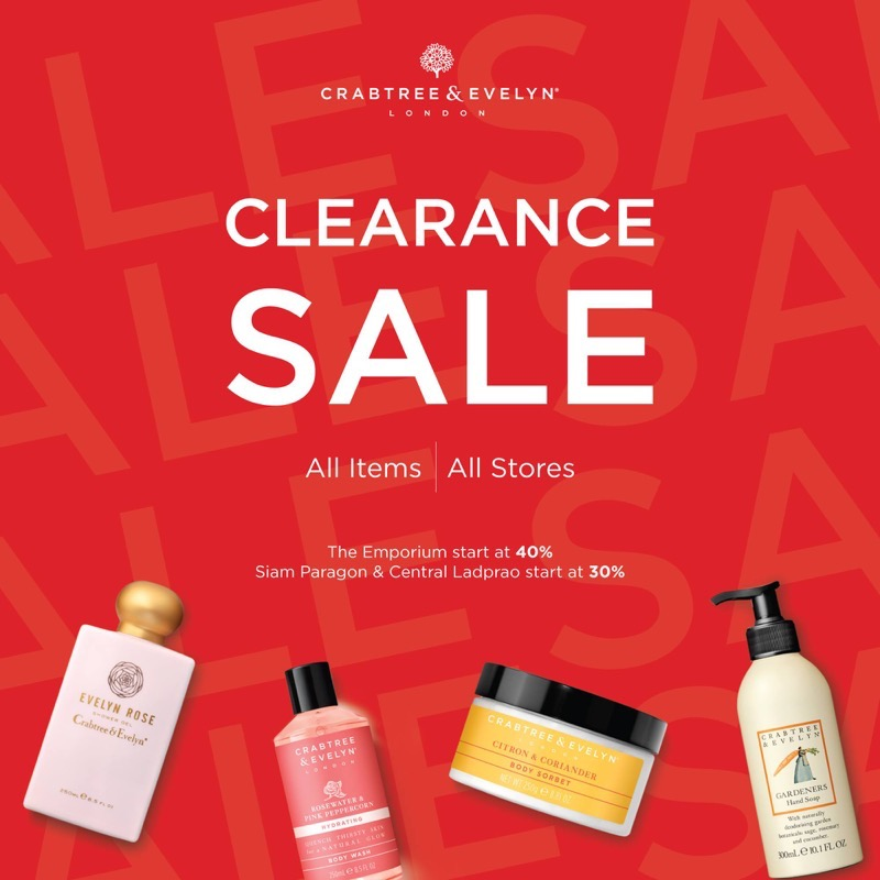 Promotion Crabtree  Evelyn Clearance Sale 2019 FULL