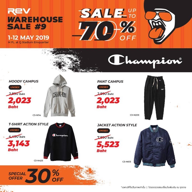 Promotion REV WAREHOUSE SALE 9 up to 70 Off May 2019 P011
