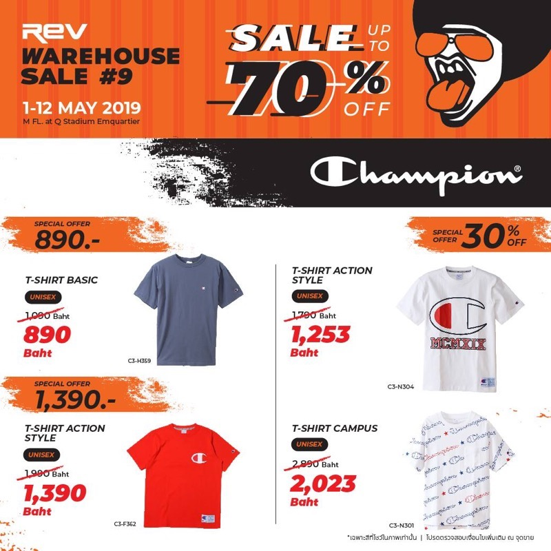 Promotion REV WAREHOUSE SALE 9 up to 70 Off May 2019 P09