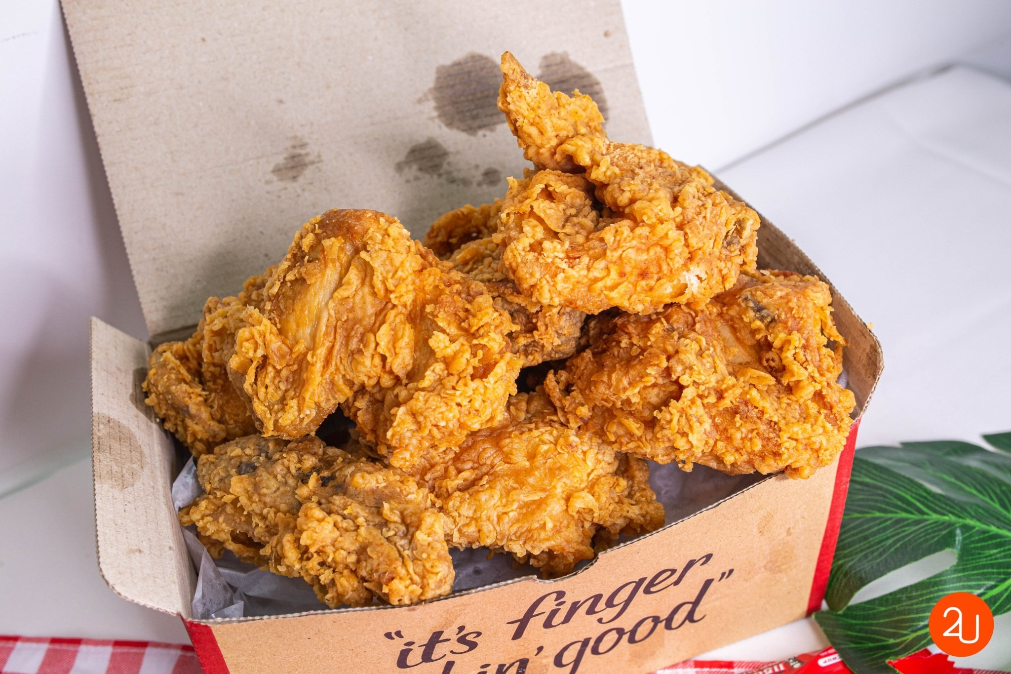 fried chicken in box