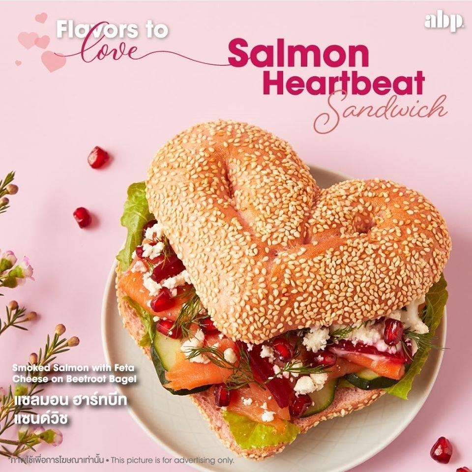 Salmon Heartbeat Sandwich