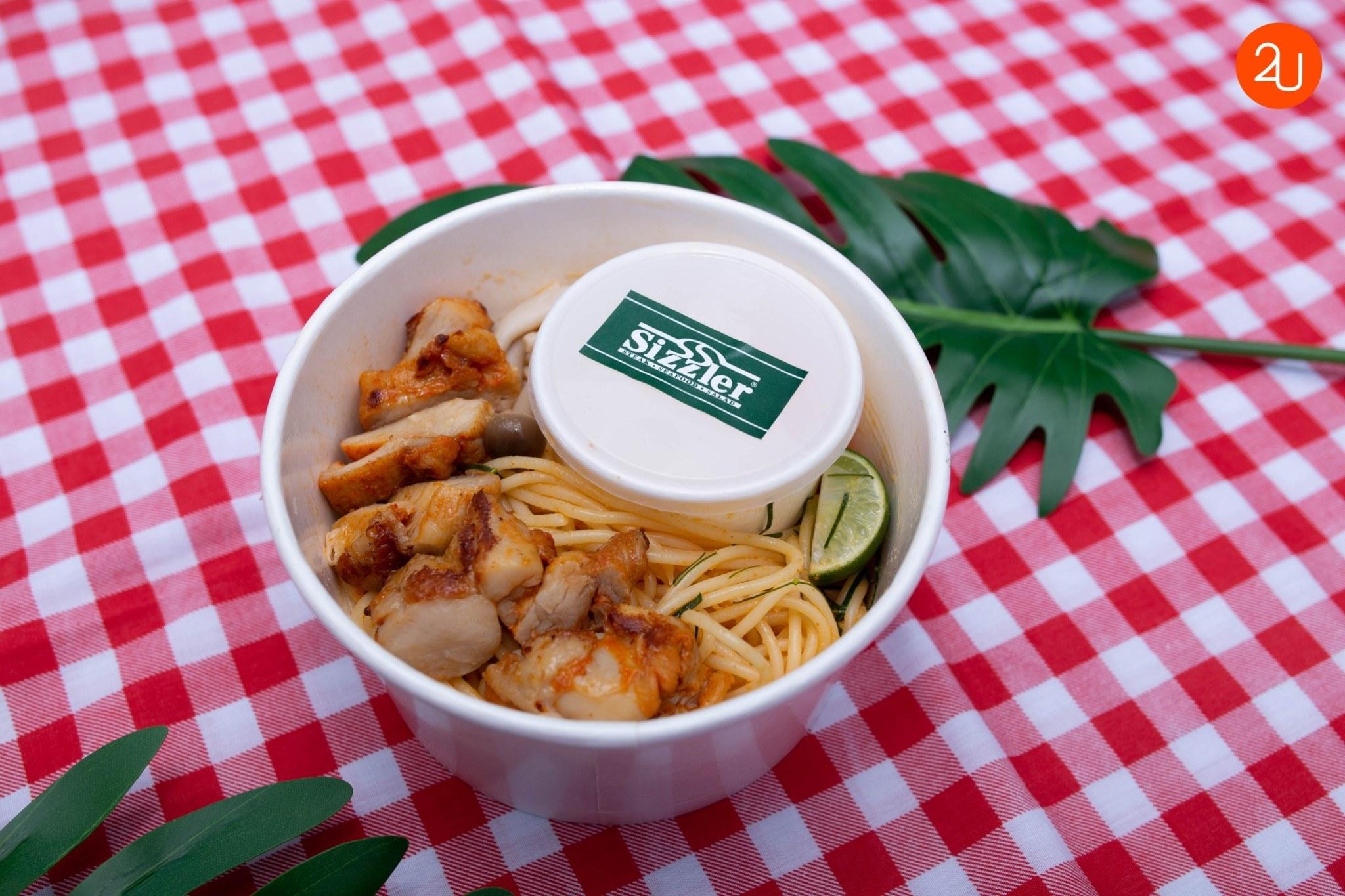 Tom yum & Spicy Chicken spaghetti (2)