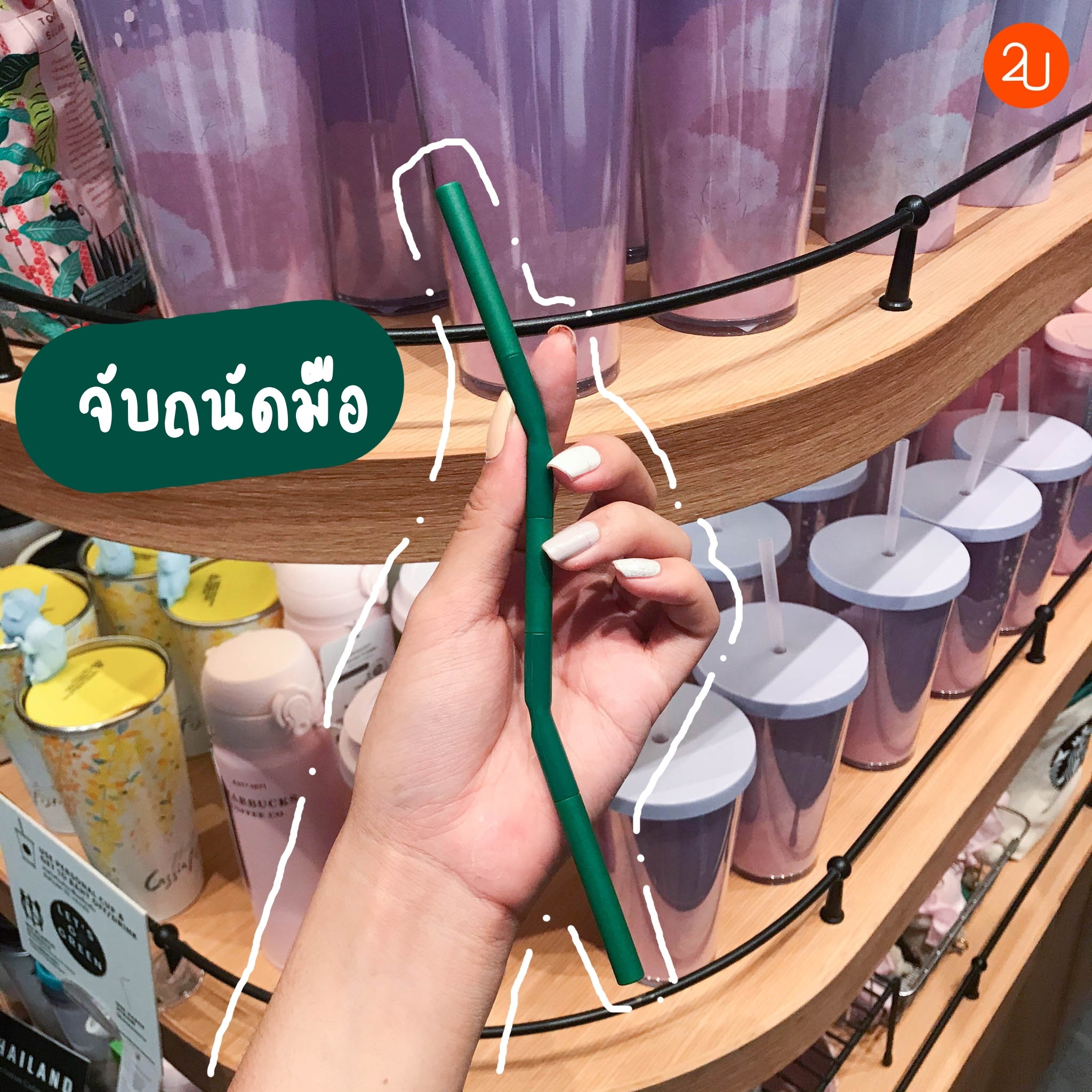 Starbucks Reusable Foldable Straw with Case (1)