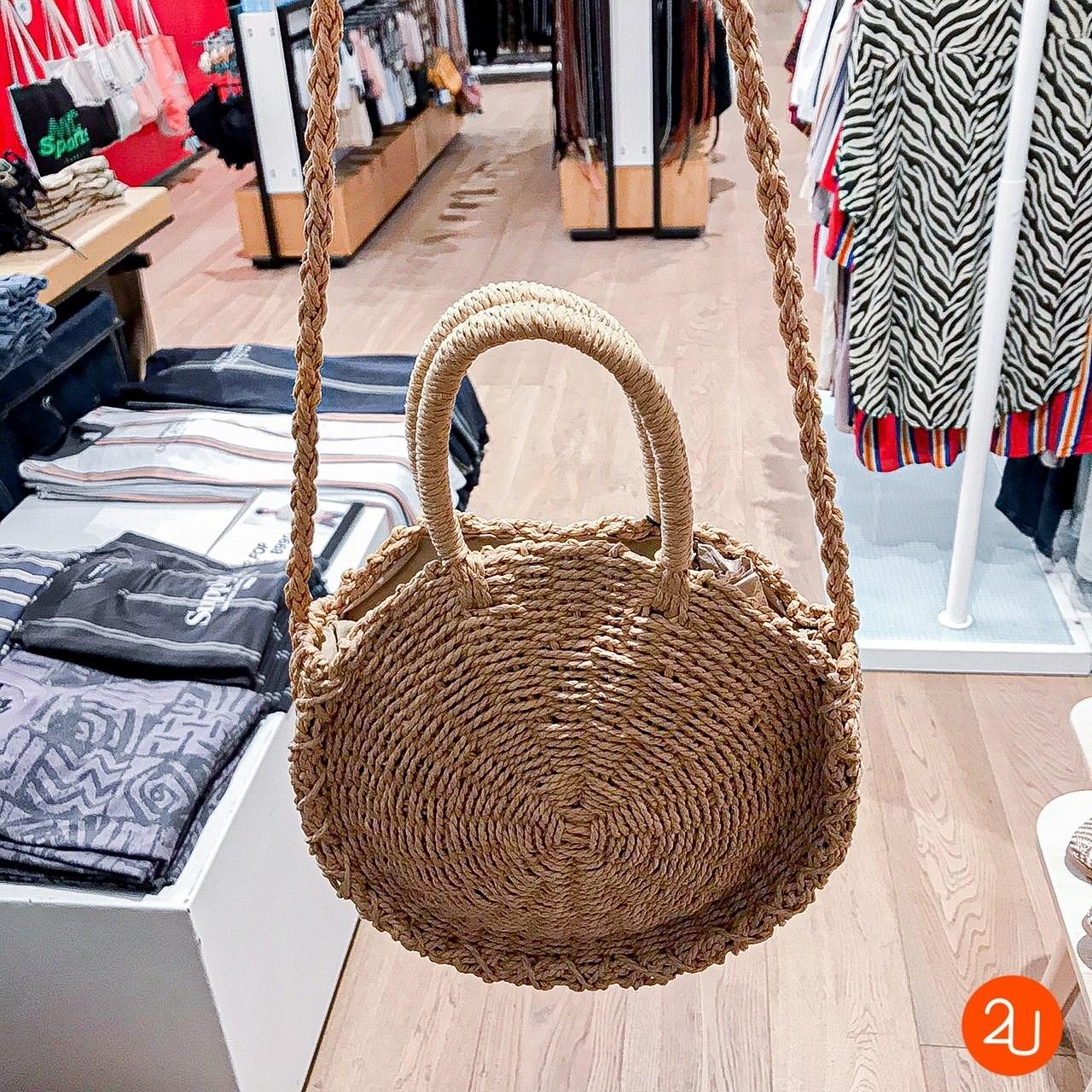 Summer Love Woven Circle Bag