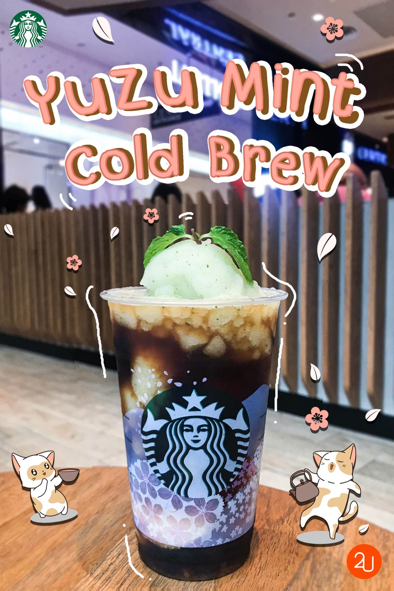 yuzu mint cold brew by starbucks